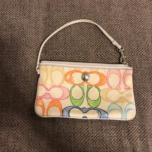 Coach Bags - ➡️free w/ purchase ⬅️Coach Colorful wristlet
